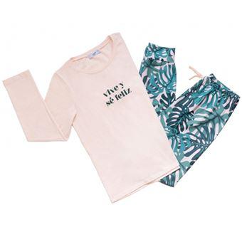 UO Pijama Vive y sé feliz - Talla S - M