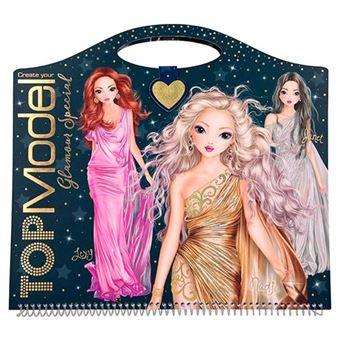 Cuaderno para colorear Top Model - Create Your Glamour Special
