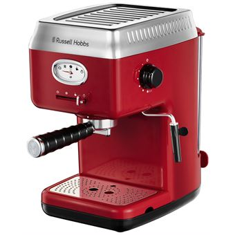 Cafetera Expresso Retro Russell Hobbs Rojo