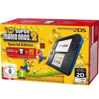Consola Nintendo 2DS Negra/Azul + New Super Mario Bros 2