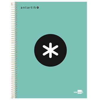 Cuaderno en espiral Antartik A4 cuadriculado menta