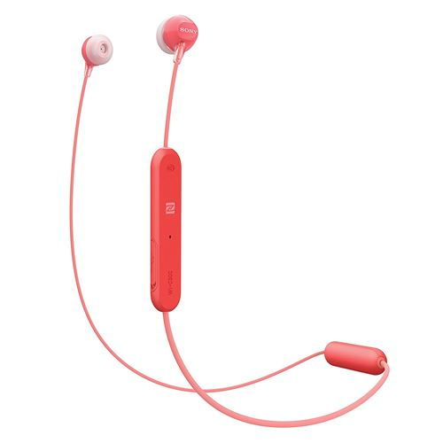 Auriculares Bluetooth Sony WI-C300R Rojo