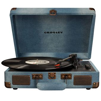 Tocadiscos Bluetooth Crosley Cruiser Deluxe Turnable Denim