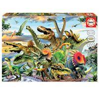 Puzzle de dinosaurios 500 Piezas Educa Borrás