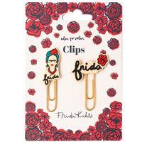 Clips con topper Frida Kahlo