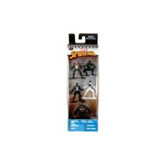 Set 5 nanofiguras de metal Spiderman