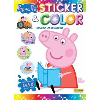 Peppa Pig colorea las estaciones - Sticker & color