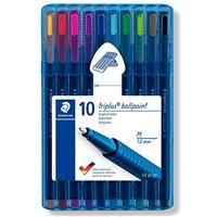 10 bolígrafos Staedtler Triplus Ballpoint colores variados