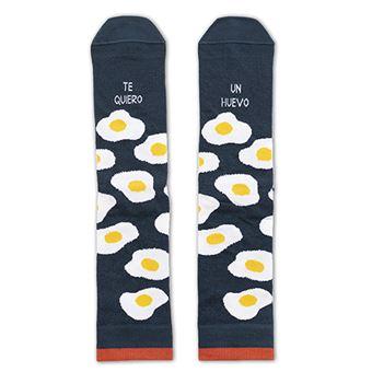 UO Calcetines Te quiero un huevo Azul Talla 35-38