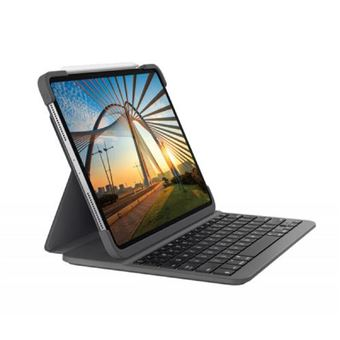 Funda con teclado Bluetooth Logitech Slim Folio Gris para iPad Pro 11''