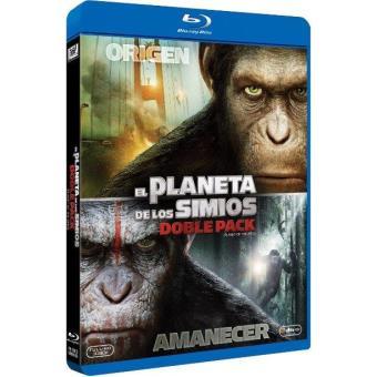 Pack El origen del planeta de los simios + El amanecer del planeta de los simios - Blu-Ray