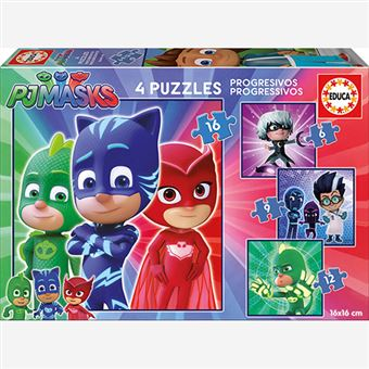 Puzles progresivos PJ Masks Educa