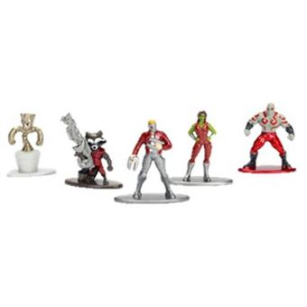 Set 5 nanofiguras de metal Guardianes de la Galaxia