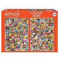 Puzzle Educa - Emoji  2 x 500 piezas