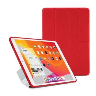 Funda con soporte Pipetto Origami Rojo para iPad 10,2''