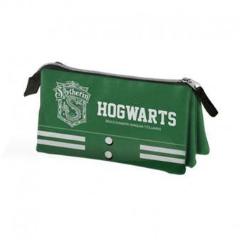Estuche triple portatodo Harry Potter Slytherin