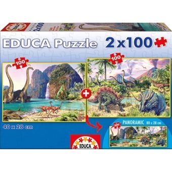 Puzzle Dino World 2x100