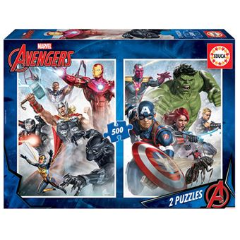 Puzzles Educa - Marvel Los Vengadores 2 x 500 piezas
