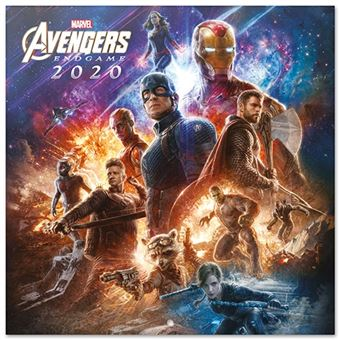 Calendario de pared 2020 Erik 30x30 multilingüe Marvel Avengers Endgame