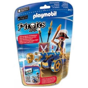 Playmobil Piratas Cañón azul + pirata