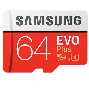 Tarjeta MicroSD Samsung EVO 64GB C10 + Adaptador