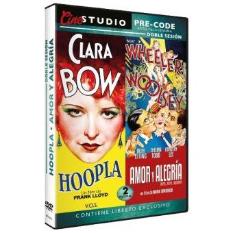 Cine Studio Doble Sesión Pre-code: Hoopla V.O.S. + Amor y Alegría (Hips, Hips, Hooray!) - DVD