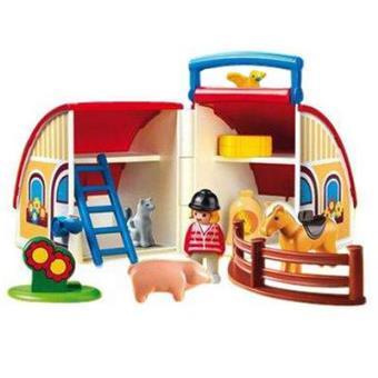 Playmobil 123 granja maletin sinopsis y precio fnac for La granja de playmobil precio