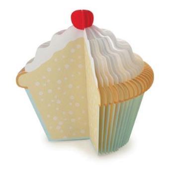 Kikkerland notas cupcake