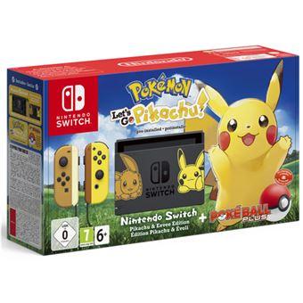 Nintendo Switch Pokémon Let's Go, Pikachu! + Pokéball Edición Limitada