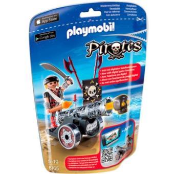 Playmobil Piratas Cañón negro + corsario
