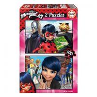 Puzles Prodigiosa Ladybug 2x100
