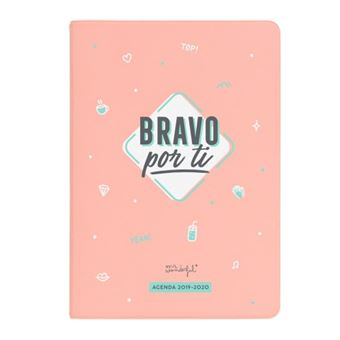 Mr Wonderful Agenda clásica pequeña 2019|20 Semana Vista - Bravo por ti