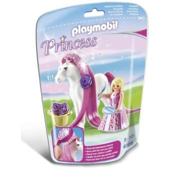 Playmobil Princesas Princesa rosa + caballo