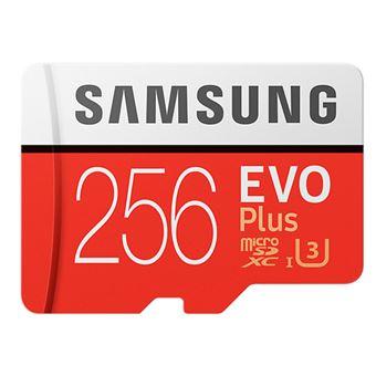 Tarjeta MicroSD Samsung EVO 256GB C10 + Adaptador