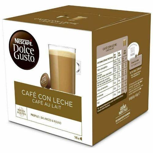 16 cápsulas Nescafé Dolce Gusto Café con leche