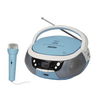 Radio CD portátil Daewoo DBU-59 karaoke azul