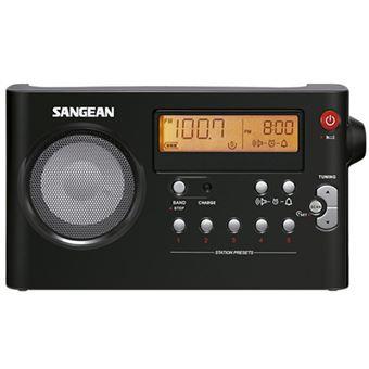 Radio portátil AM/FM Sangean  PR D7 Negro