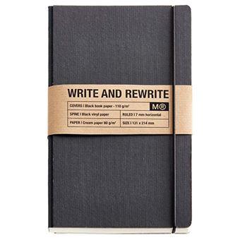 Miquelrius  Cuaderno Encolado  Cuadrícula Just Black