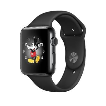 Apple Watch S2 38mm negro espacial y correa deportiva negra
