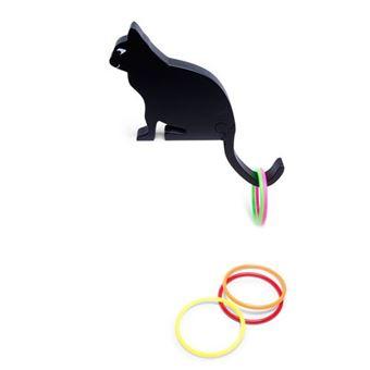 Lanzamiento de anillas gato
