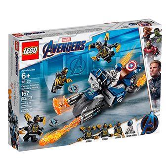 LEGO Marvel Super Heroes 76123 Capitán América: Ataque de los Outriders