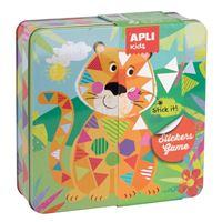 Juego de gomets en caja metálica Apli Tiger