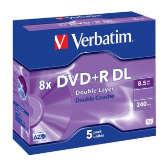 Verbatim Pack 5 DVD Doblecapa 8 x