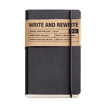 Cuaderno encolado Miquelrius Just Black Cuadrícula