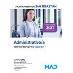 Administrativo/a. Temario Específico volumen 1. Ayuntamiento de San Sebastián