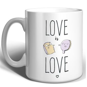 Taza Miss Borderlike Love is Love - Erizo y cepillo