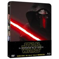 Star Wars Episodio VII: El despertar de la Fuerza - Steelbook Blu-Ray + DVD
