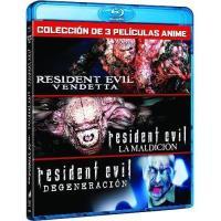 Pack Resident Evil - Vendetta + La maldición + Degeneración - Blu-Ray
