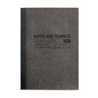 Miquelrius Cuaderno Encolado A5 Horizontal Just Black
