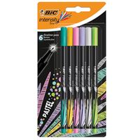 Pack 6 rotuladores Bic Fineliner Intensity Pastel Punta fina